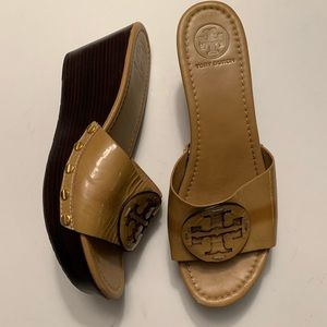 Tory Burch Patti Platform wedges patent leather